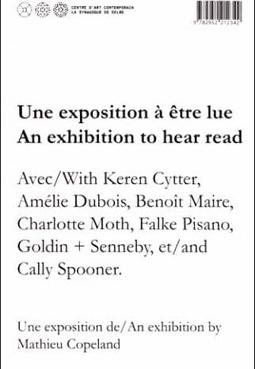 chronotexte - protocole de lecture est une exposition à être lue.