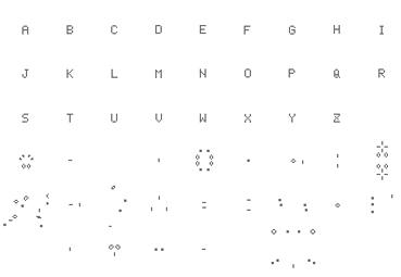 26 animations, 2008. 2 min 11 chacune. Système d' écriture issu d'une simulation de développement cellulaire appliqué à l'alphabet. Chaque lettre de l'alphabet est tour à tour soumise à une simulation de développement cellulaire. Application du logiciel Life-Lab qui étudie des phénomènes biologiques au moyen de simulation informatique.
