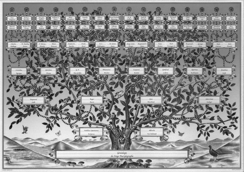 généalogie du singe savant oeuvre de amélie dubois